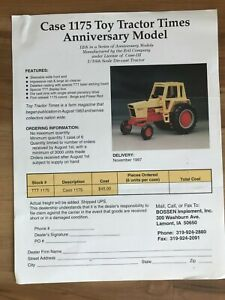 Case 1175 Ertl 1/16 Die cast toy tractor order form