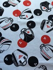 RPE188 Retro Bowling Bags Bowling Balls League Sports Cotton Quilting Fabric