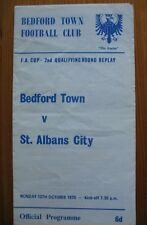 Bedford Town v St Albans City Fa Cup Qualifying Round Replay 12 Oct 1970