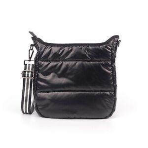 Puffer Crossbody Bag with Strap - Black/Stripe, Silver/Camo, Camo/Stripe - NEW!