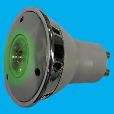 2x 3W LED GU10 Green Coloured Reflector Spotlight Decorative Bulb Lamp