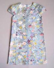 GUCCI Girls 8 Yrs Blue Floral Silk-Blend Dress EUC White Pink Butterflies