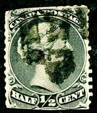 CANADA 1868 USED SCOTT 21 ½ CENT QUEEN VICTORIA HEAD POSTAGE STAMP