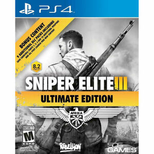 Sniper Elite III 3 Ultimate Edition PS4 New and Sealed