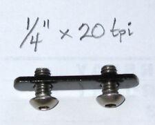 "New 80/20 T-Slot Dual 1/4"" x 20-tpi Double T-Nut 10 Series Part #3280 (10 Sets)"