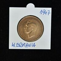 1947 George VI One Penny - Copper - Extremely Fine Condition