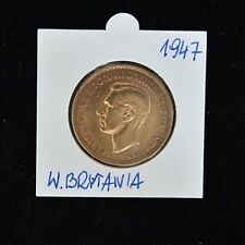 1947 Georgivs VI One Penny - Copper - Extremely Fine Condition