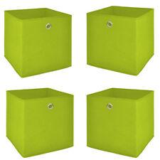 Faltbox 4er Set Flori 1 Korb Regal Aufbewahrungsbox für Raumteiler in apfelgrün