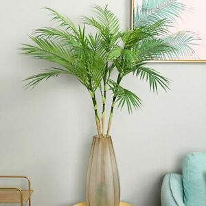 Home Living Room Decors Artificial Palm Tree Typed Plastic Material Flower Style
