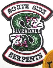 """RIVERDALE SOUTHSIDE SERPENTS 4.5"""" EMBROIDERED IRON-ON PATCH"""