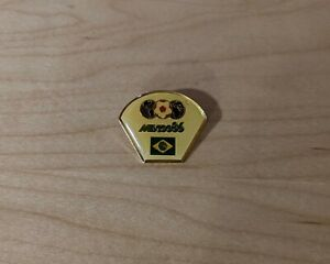 Vintage 1986 World Cup Mexico 1984 Brazil Country Pin Limited Edition 0219/8000