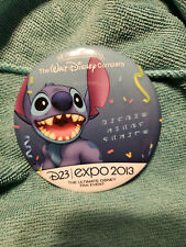 D23 Expo Walt Disney 2013 Stitch 90th Anniversary Button