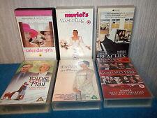CHICK FLICKS - 6 VHS VIDEO BUNDLE - BEACHES CALENDAR GIRLS EMMA MURIEL'S WEDDING