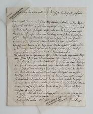 1821 Vorbereitung Lammwolle Färben türkischrot Dokument Rechnung Handschrift alt