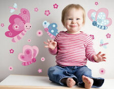 Kids Removable Vinyl Wall Stickers for Girl -- Butterflies