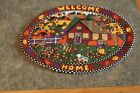 Welcome Home Oval 11 X 9 Handmade Quilted Table Runner Topper