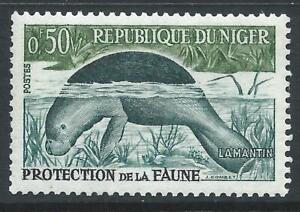 Niger 1959 Wild Animals & Birds 50c African Manatee Very fine MNH