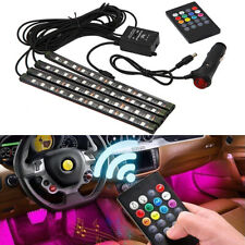 8 MultiColor Universal 12 LED Car Interior Remote Light Music Control Decor Lamp