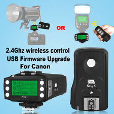 Pixel King Pro 2.4GHz Wireless TTL Flash Trigger Kit with LCD Screen for Canon