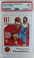 2018-19 Panini Chronicles Trae Young Rookie RC #94, Hawks, Graded PSA 9 Mint