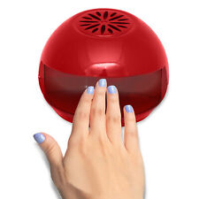 Portable Quick Drying Nail Dryer Red Manicure Smudge Free