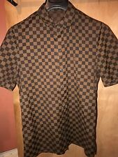 Louis Vuitton Damier Shirt, Medium, Brown (RARE 2009)