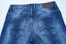 HUGO BOSS orange Herren Jeans Hose 34/32 W34 L32 stretch used look risse blau