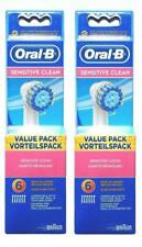 12 x BRAUN ORAL B SENSITIVE CLEAN Spazzole EXTRA SOFT-NUOVO & OVP