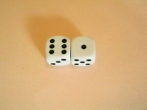 1 Pair of Dice (16mm) for Traditional Games, Wargames or Roleplaying