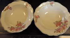 J&G Meakin - 2x Cerial Bowl with Gilt Edge - Sunshine Backstamp  England