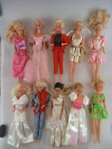 10 Barbie Puppen Konvolut ca. 1980er 1990er Jahre Mattel (4786b)
