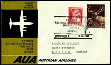 Austria, First Fly Cover, Innsbruck-London, Year 1964, Austrian Airlines