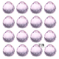 10PCS Pink Chandelier Crystal Clear Ball Prism Suncatcher Feng Shui Pendant 20mm