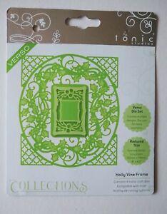 Tonic Studios Die Set - Holly Vine Frame - 4 Dies - Christmas Cardmaking