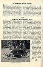 Berlino la automobilistica nel servizio postale tedesca D. inventore Ing. Boris loutzky 1900