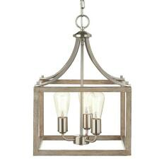 Home Decorators Col. Boswell Quarter 14 in. 3-Light Brushed Nickel Chandelier