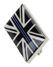 Thin Blue Line Union Jack UK GB Domed Resin Brooch Pin Badge Police