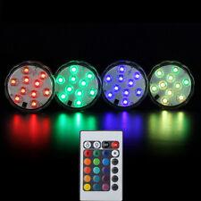 4pcs Waterproof LED RGB Submersible Light Wedding Party Vase Lamp+Remote Control