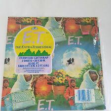 "1982 Et The Extra-Terrestrial Gift Wrap 2 Sheets- 20"" x 30"" Original Shrink Wrap"
