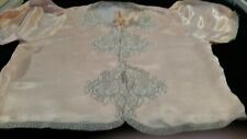 Vintage Bed Jacket silk & lace Pink W Overlay