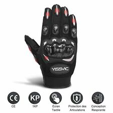 Yissvic Gants Moto Homologué scooter Tactile Plein-doigt Anti-glissant...