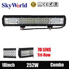 18inch 252W LED Work Light Bar Combo Driving Lamp SUV ATV Offroad 4WD PK108W