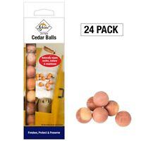 24 pk Mildew Moth Larvae Repeller Killer Cedar Wood Balls 100% Natural