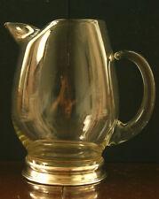 Art Deco Antike Wallace England Sterling Silver Glas Saftkaraffe aus 1940
