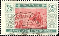 "MAURITANIE - 1937 - CAD ""PORT-ÉTIENNE / MAURITANIE"" SUR N°42"