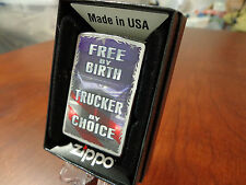 TRUCKER BY CHOICE TRUCK DRIVER SEMI BIG RIG ZIPPO LIGHTER MINT IN BOX