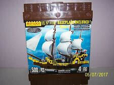 NEW BEST LOCK CONSTRUCTION SET HUGE PIRATE SHIP 500 PIECES 4 FIGURES - RETIRED