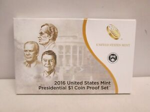 2016 US MINT PRESIDENTIAL 1 DOLLAR PROOF SET WITH BOX AND COA