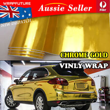 Mirror Chrome Gold Golden Car Vinyl Film Wrap Air Release Decor Sheet 30CMx1.5M