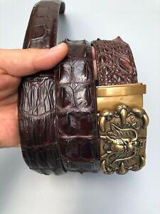 Luxury Men's Belt - Genuine Crocodile  Skin- Very Formal Handmade Belt –DL54